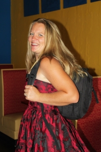 I never travel without the camera! I was using my formal back-pack for the shower :)