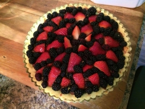 This could be a finished tart, if you wanted it to be.