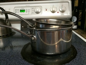 My version of a double boiler.