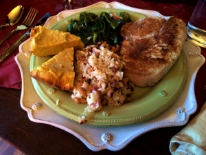 This is what your New Year's day plate should look like. If it doesn't, you need to run to your closest Southern Friend's home and beg for some leftovers...which you know they will have!