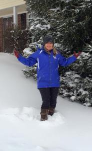 My Mom....The best looking snow bunny in the Bluegrass State!