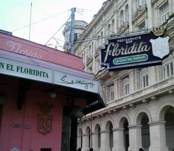 Outside view of the El Floridita.
