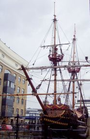 The Golden Hind, the boat Drake was in command of that was stricken with sea disease!