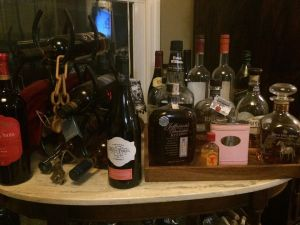 We ave a slight Bourbon obsession in my house....While some of that is wine, a majority is fine and hard to find Bourbons. Our wine rack has no wine on it!