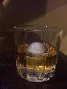 My favorite way yo enjoy Bourbon...on the rocks with a cool cube of ice!