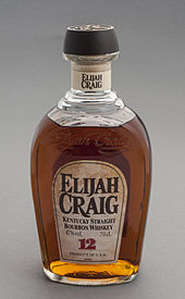 The current bottle of one of the oldest Bourbons.