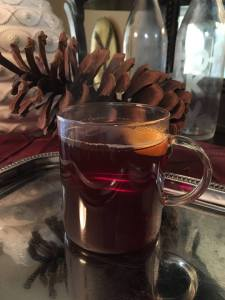 This is a great drink for fall and through the holidays! Make it before a Christmas open house and your home will smell AMAZING and your guests will enjoy the cocktail!